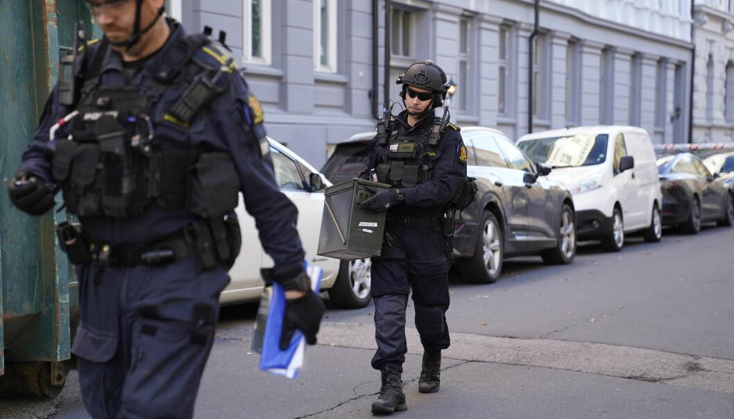 Politiets bombegruppe fjernet granaten.