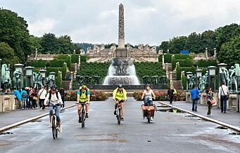 – Sykle til jobben-rittet over Vigelands-broen har blitt et mareritt for folk til fots i Frognerparken