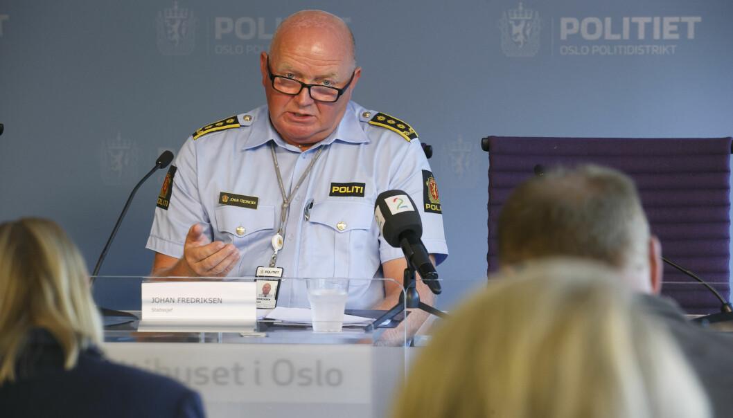 Politiinspektør Johan Fredriksen i Oslo Politidistrikt opplyser om at de har avdekket kritikkverdige forhold hos politiet.