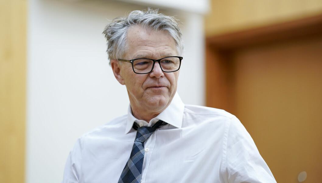 Advokat Øystein Storrvik forsvarer drapstiltalte Makaveli Lindén.