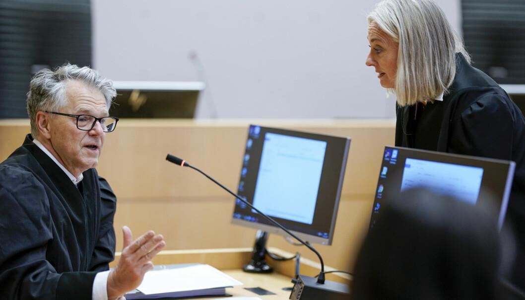 Forsvarer Øystein Storrvik og aktor Trude Antonsen under straffesaken mot Makaveli Lindén i Oslo tingrett.