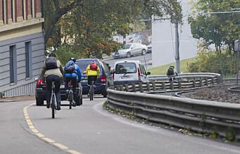 - Kongsveien er ubehagelig for syklister, sa miljøbyråden og stengte veien for biler. Nå viser tall at 1 prosent var tunge kjøretøy