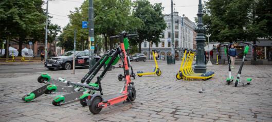 Flertall i bystyret i Oslo ønsker anbudssystem for el-sparkesykler