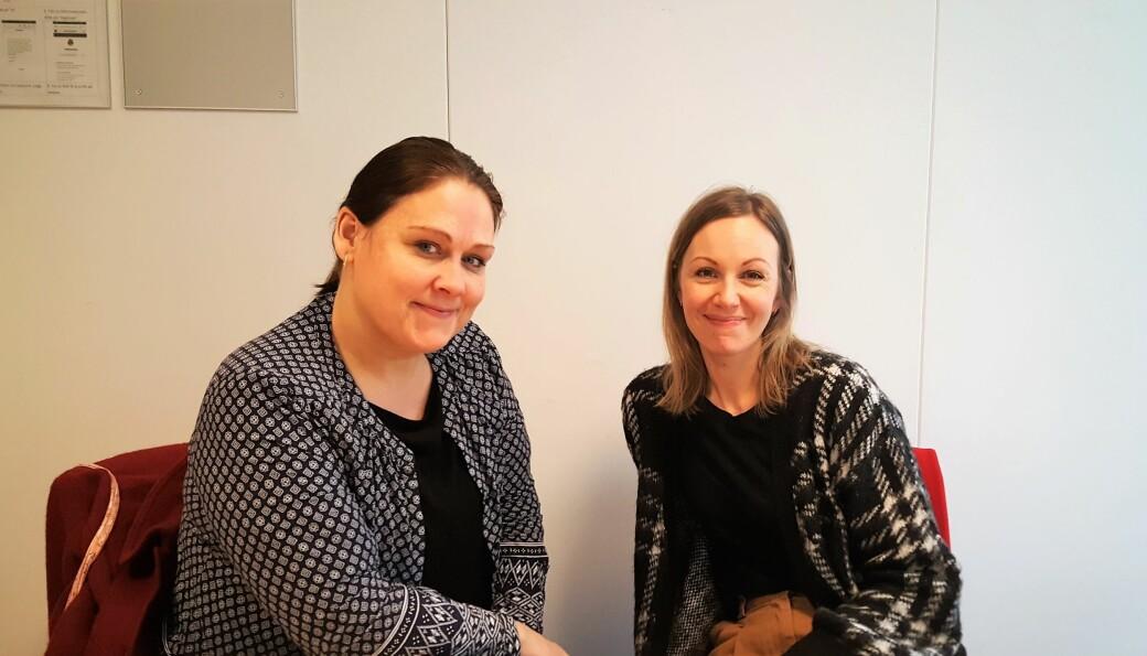 To av helsesykepleierne som gjennomfører foreldrekursene, Gro Turtumøygard og Camilla Olsen Røraas. De forteller at kurset passer for alle foreldre.