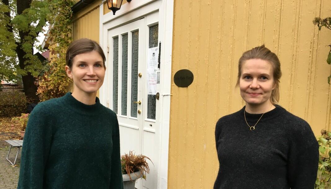 Frvillighetskoordinator Ingrid Bergande (til venstre) og folkehelsekoordinator Ida Pedersen, i Bydel Frogner, gleder seg til å se hvem som vil bli nominert til årets tolkehelse- og frivillighetspris.