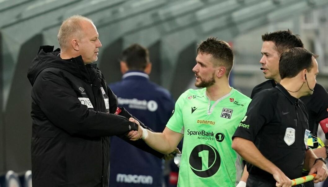 "Det var under munnhuggeri i pausen Flamur Kastrati kalte VIF-trener Dag-Eilev Fagermo ""jævla soper""."