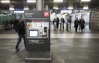 Ruter fjerner billettautomatene og installerer kortlesere for reisekort på T-banen