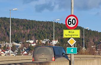 Miljøfartsgrenser på fire motorveier i Oslo fra 1. november