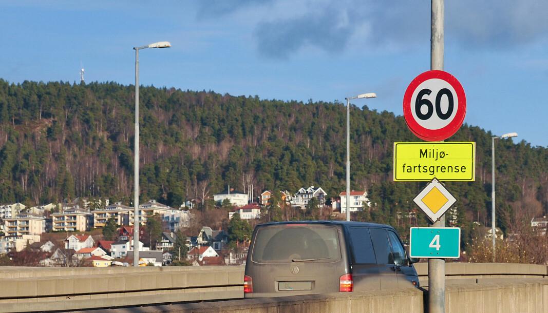 Statens vegvelsen vil innføre miljøfartsgrense for å bedre luftkvaliteten i Oslo. Her ved Sinsenkrysset.
