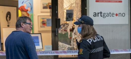 Tyver brøt seg inn i galleri i Oslo med øks og slegge