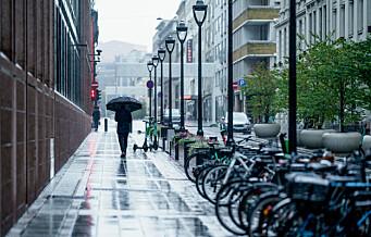 Mer regn i Oslo enn i Bergen for første gang siden 1993