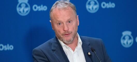 Pressekonferanse om koronatiltakene i Oslo onsdag
