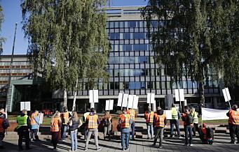 Vekterstreiken delvis avblåst. Men 669 av Arbeidsmandsforbundets Oslo-vektere er fortsatt i streik
