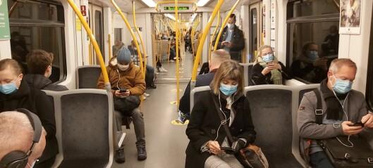 Ny koronarapport: Null smitte på T-bane, trikk og buss