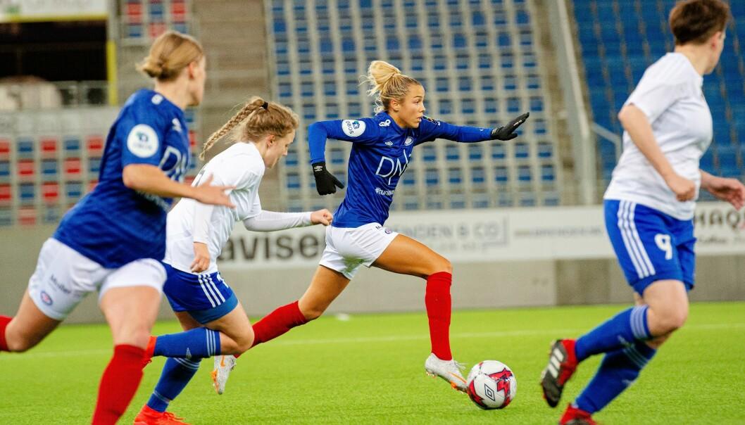 Celin Bizet Ildushøy og Vålerenga-damene stormer mot gruppespillet i Mesterligaen. Onsdag ble færøyske Klaksvik sendt hjem med 0-7 i bagasjen.