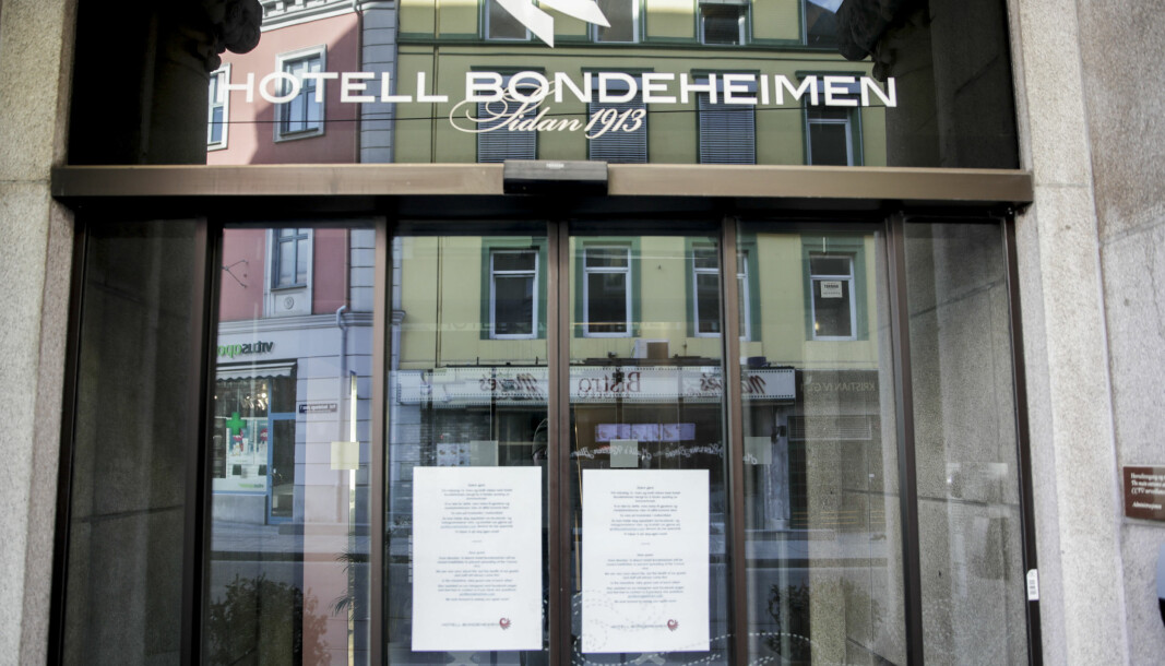 Hotell Bondeheimen er blant hotellene som har vært rammet av korona.