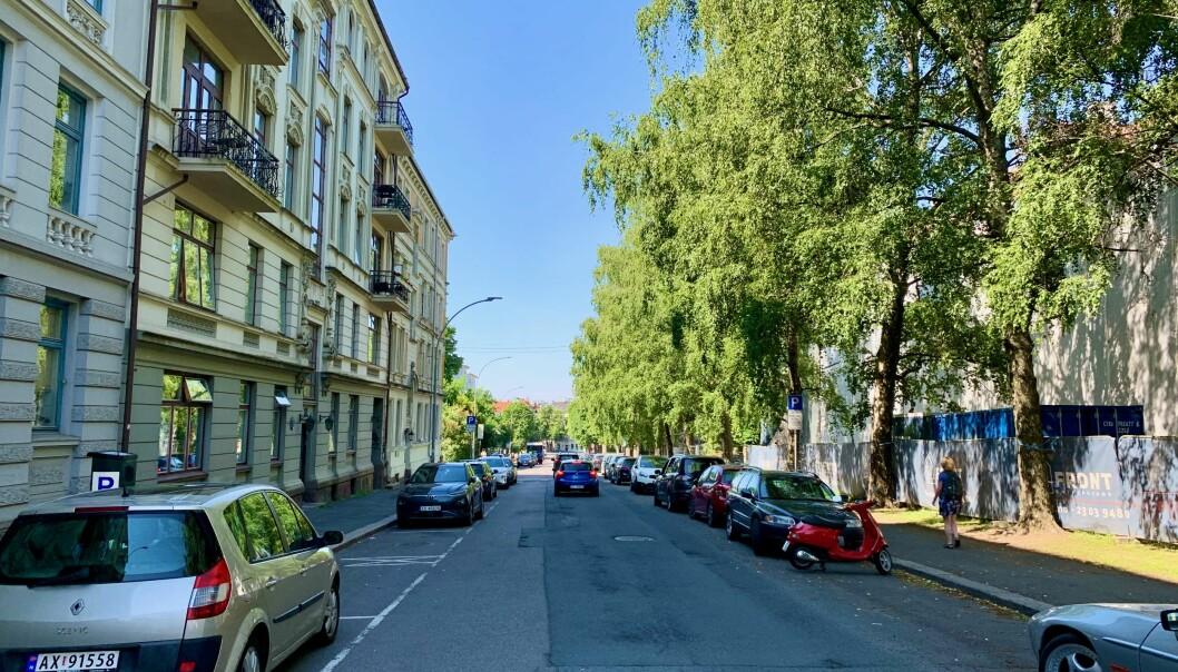 Beboerparkeringene må gå tapt i General Birchs gate når det bygges ny sykkelvei.