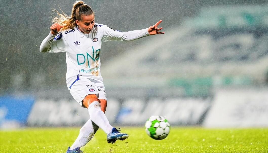 Sigrid Heien Hansen vartet opp med det som kanskje blir sesongens mål onsdag kveld.
