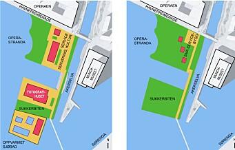 – Valget står mellom å bygge ned de siste, åpne arealene i Bjørvika eller å utvikle dem til et enestående, offentlig område