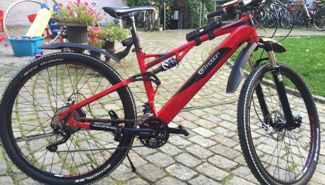 Også denne kule sykkelen tilhørte Lasse Tømte, før den ble stjålet.