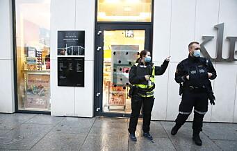 Knivran mot Narvesen-kiosk i Bjørvika