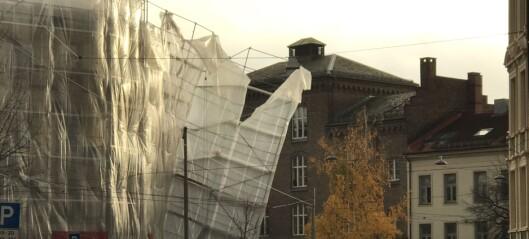 Stillas i Vogts gate 45 løsnet fra veggen på grunn av kraftig vind