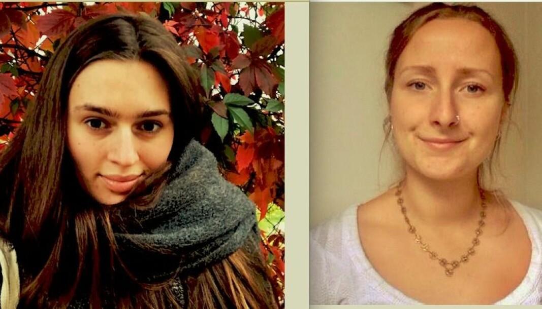 Studentene Merita Fjetland (t.v.) og Nina Arnesen mener det er usolidarisk av SiO å ha så høy husleie. Nå krever de at SiO reduserer husleia for studentene.