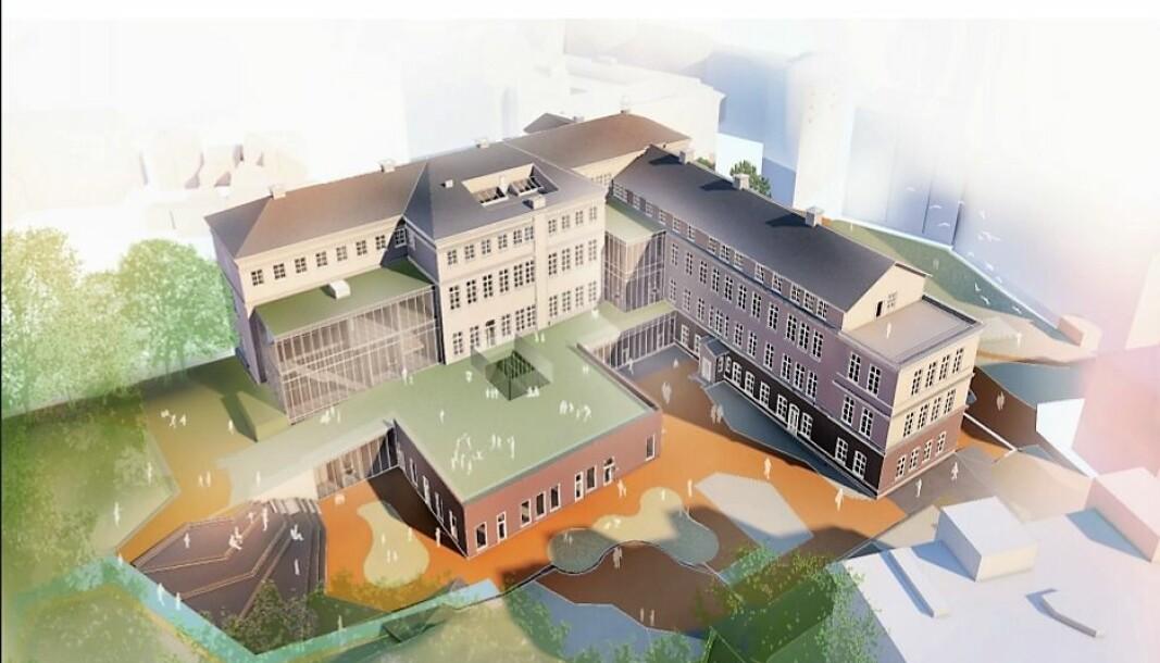 Gamle Sophoes Minde på Carl Berner kan i framtiden bli en stor barnehage. Slik ser arkitiektene bak prosjektet for seg at det kan bli seende ut.