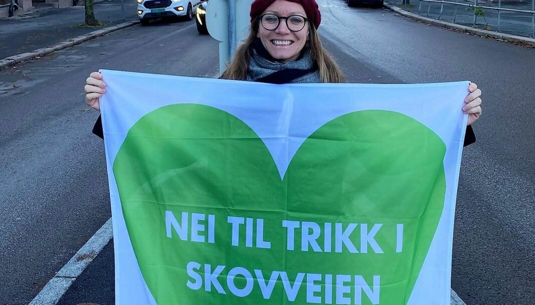Katinka Mørch Granberg og Skovveien velforening er sterkt imot trikk at Briskebytrikken flyttes til Skovveien.