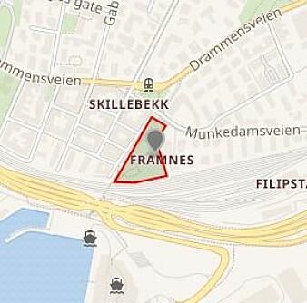 Beliggenheten til Framneshaven (Tinker'n).