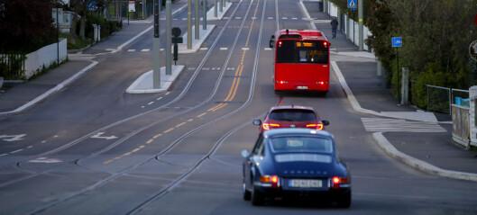 De siste koronatiltakene ga mindre nedgang i biltrafikk i Oslo enn i andre byer