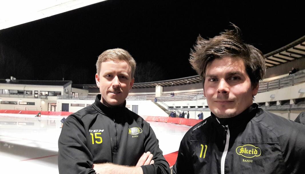 Kristian Ellstrøm og Anders Kogstad i Skeid gleder seg til å spille foran hjemmefansen, men mildvær gir stadige utsettelser.