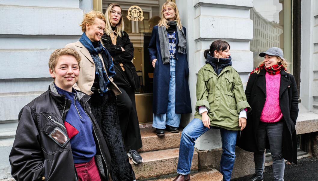 Gjengen bak Kingos 4. Fra venstre: Johanne Reinertsen (G&B), Ida Pallin Bostadløkken (G&B), Nora Vigen (Fett), Hanne Skogvang (Fett), Madeleine Schultz (Brød og Roser), Jenny Dellegård (Brød og roser).