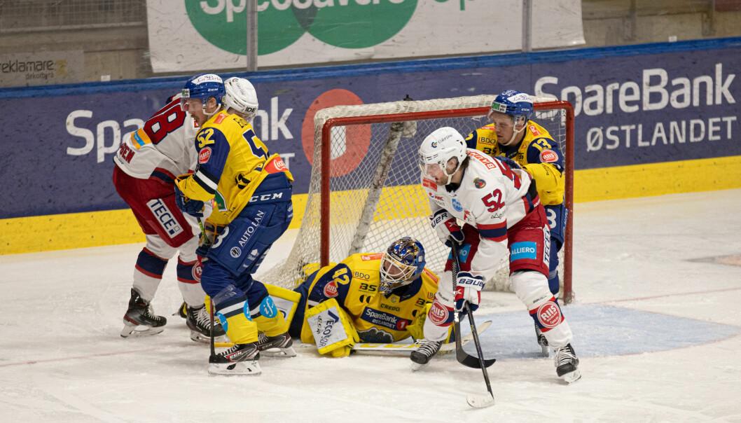 Filip Gunnarsson #52 og resten av Vålerenga kjempet hardt i CC Amfi denne kvelden.