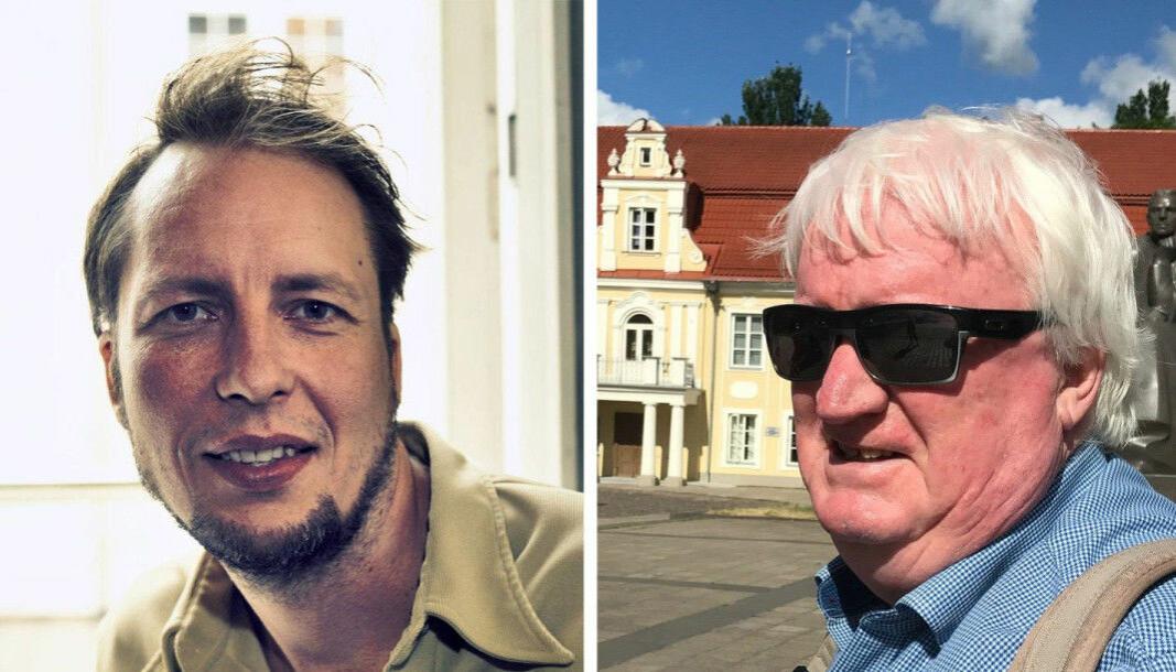 VårtOslo-redaktør Vegard Velle (t.v.) og redaktør i Radio Riks Oslo, Knut Jeppsson, kjører felles morgensending hver dag klokka halv åtte.