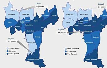 Den delte byen: Sør i Oslo er nå arbeidsledigheten over dobbelt så høy som i vest