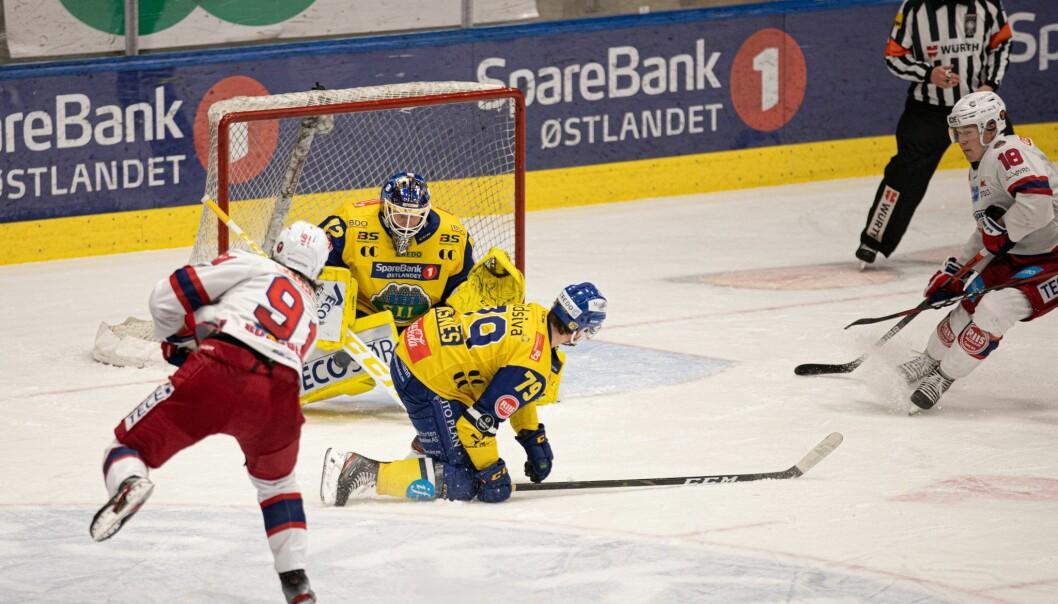 Axel Sundberg #91 var den eneste av VIF-spillerne som kom på scoringslista mot Storhamar sist lørdag.