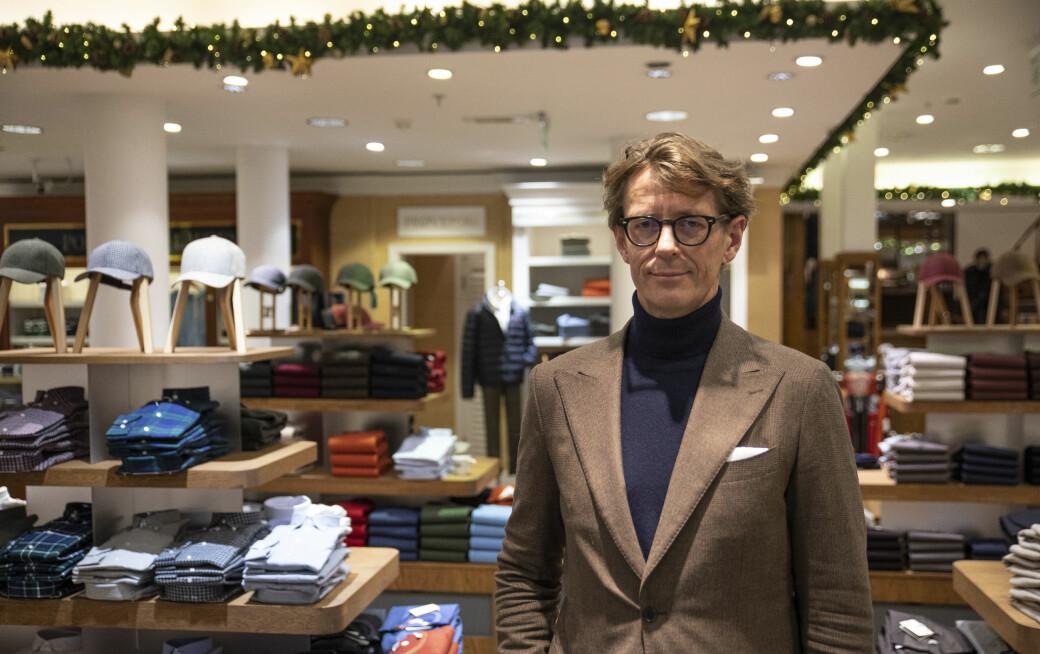 Calle Ferner, butikksjef og medeier i Ferner Jacobsen, forteller at driften var god før koronaen traff Norge.