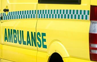 To personer til legevakt etter brann i ambulanse mellom Grorud og Stovner