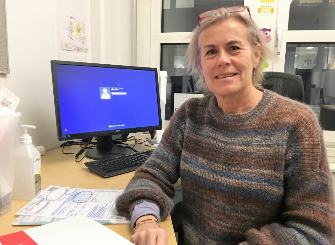 Helsesykepleier Ingrid Ramsøy kan fortelle om økt åpenhet på helsestasjonen.