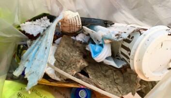 Det hverdagslige avfallet er overalt på hvert gatehjørne og under en hver busk. Karina plukker det opp og kaster det.