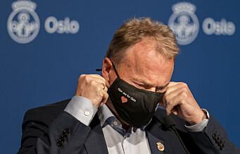 Raymond Johansen gjentar krav om obligatorisk koronatesting på Gardermoen. Frykter importsmitte til Oslo i jula