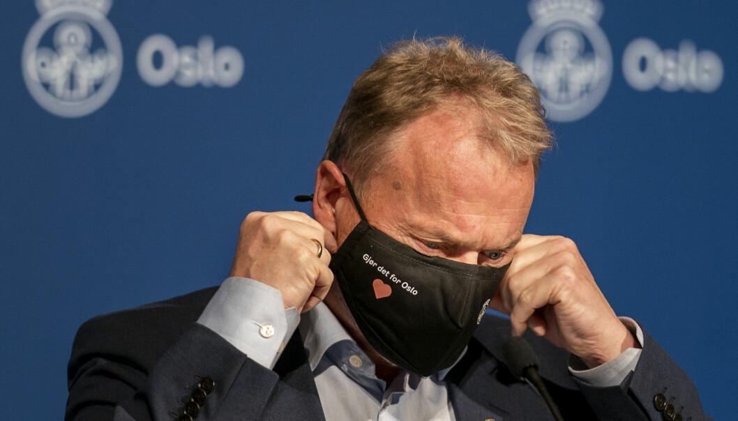 <p>Byrådsleder Raymond Johansen (AP) mener Oslo ikke har annet valg enn å forlenge nedstengningen gitt at smittetallet i dag er over 200 i Oslo for første gang siden 19. november 2020. Foto: Heiko Junge / NTB<br></p>