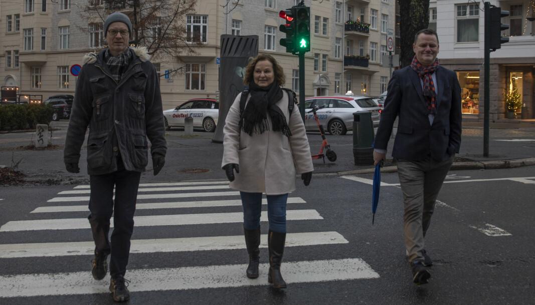 Bydelsutvalgsmedlemmene Tore Wilken Nitter Walaker (V), Jens Jørgen Lie (H) og Inger Huseby (Ap) er klare for å ta over mer av ansvaret for vedlikeholdet i bydel Frogner.