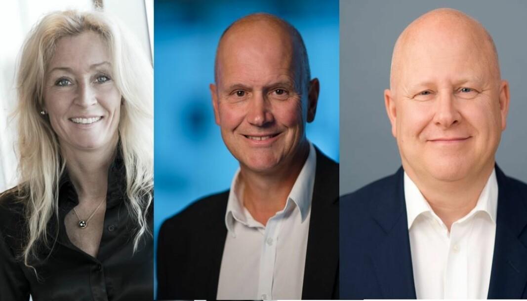 Administrerende direktør i Privatmegleren Grethe Meier, administrerende direktør i DNB Eiendom Terje Buraas og Baard Schumann er konsernsjef i eiendomsselskapet Nordr tror alle på kraftig vekst i Oslos boligmarked.