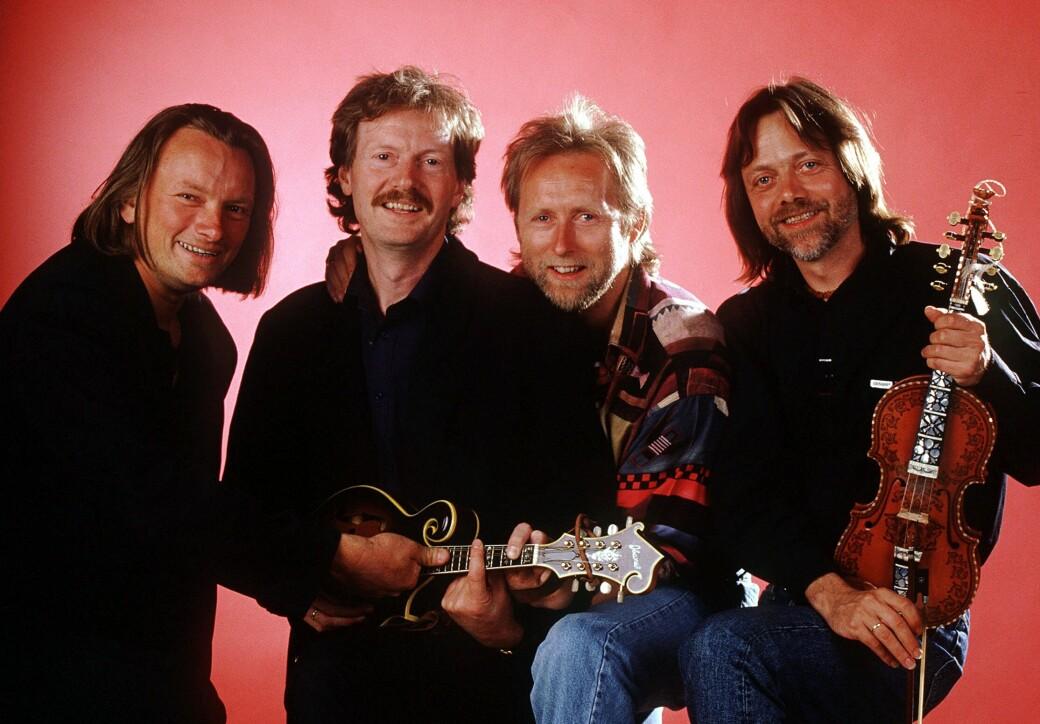 Enorm kunstnerisk og kommersiell suksess med Gitarkameratene, her fra 1993. f.v. Jan Eggum, Øystein Sunde, Halvdan Sivertsen og Lillebjørn Nilsen.