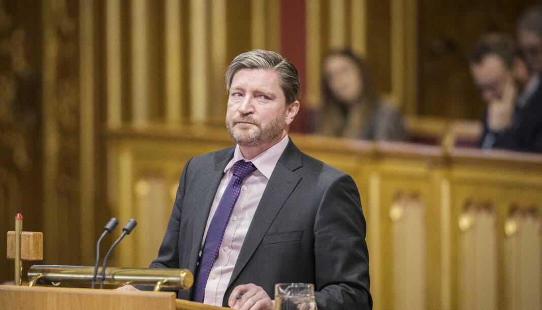 Christian Tybring-Gjedde (Frp) på Stortinget. Nå har han ifølge TV 2 ikke lenger sikker plass på Oslo Frps nominasjonsliste.