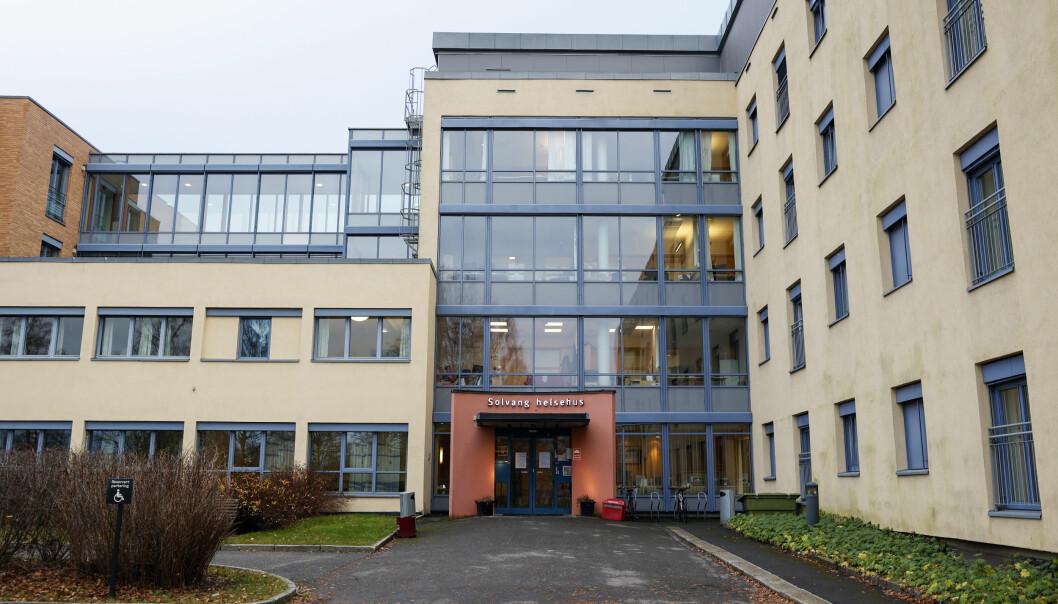 Solvang helsehus er kommunal covid-19 behandlingsenhet for helsehuspasienter fra hele Oslo.