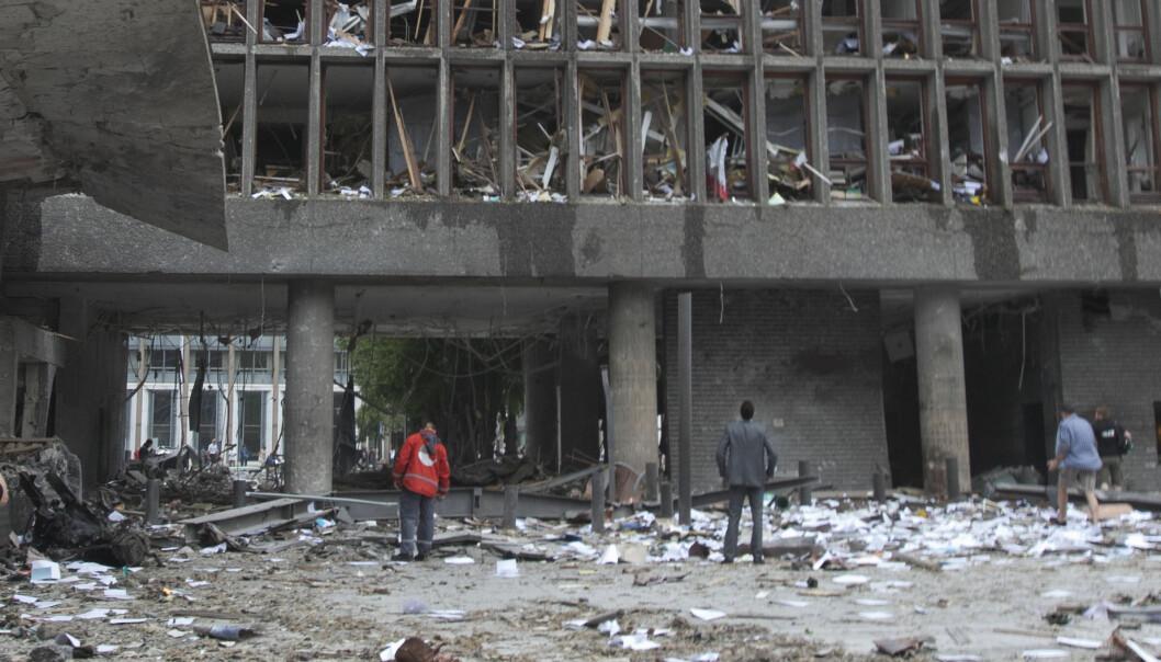 Åtte personer ble drept av bomben i regjeringskvartalet, ni ble alvorlig skadet og i tillegg ble minst 200 personer fysisk skadet med varierende skadebilde.