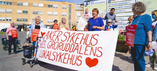 - Sårbare pasientgrupper avspises med et hjørne ved Sinsenkrysset. Oslo Høyre tar Aker sykehus som gissel